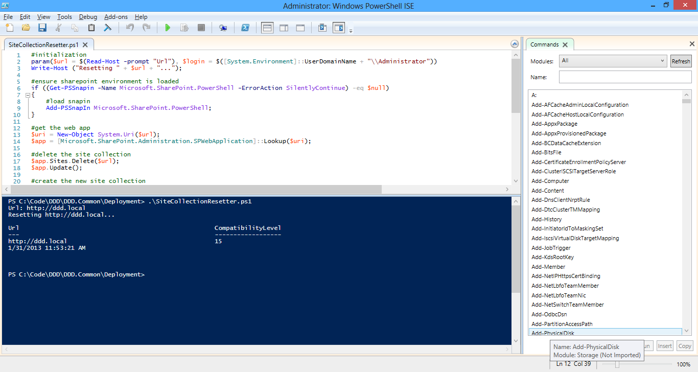 Getting PowerShell working finally