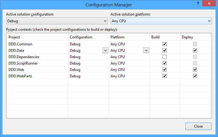 Using the Configuration Manager