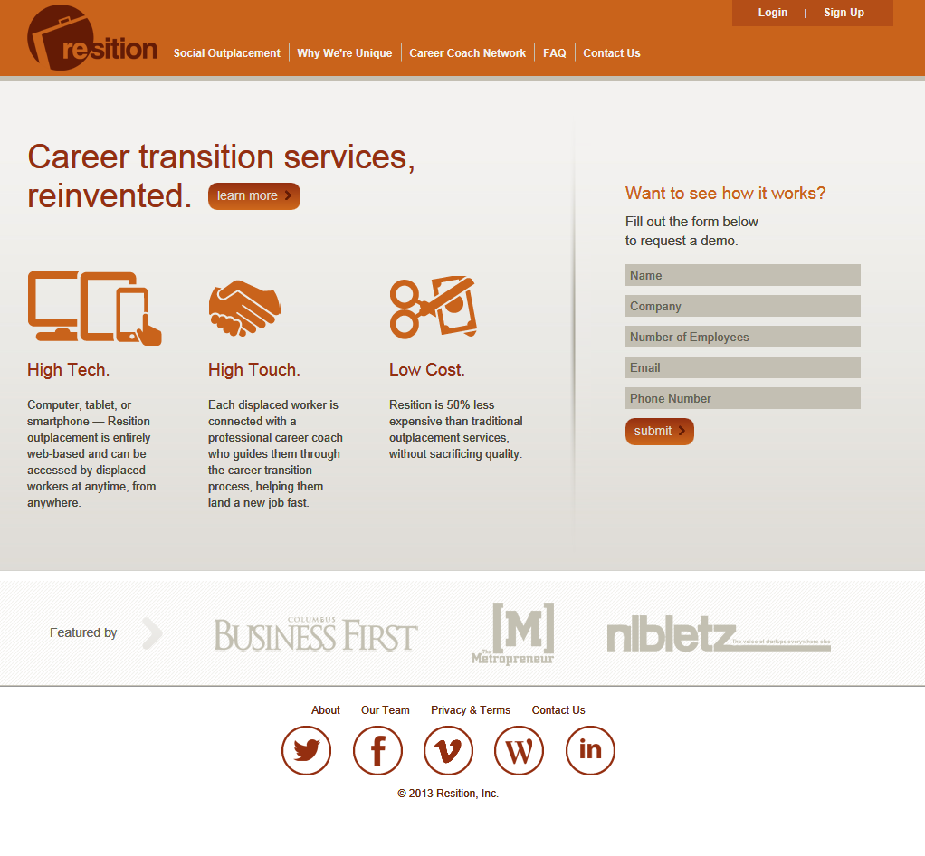 Resition Home Page