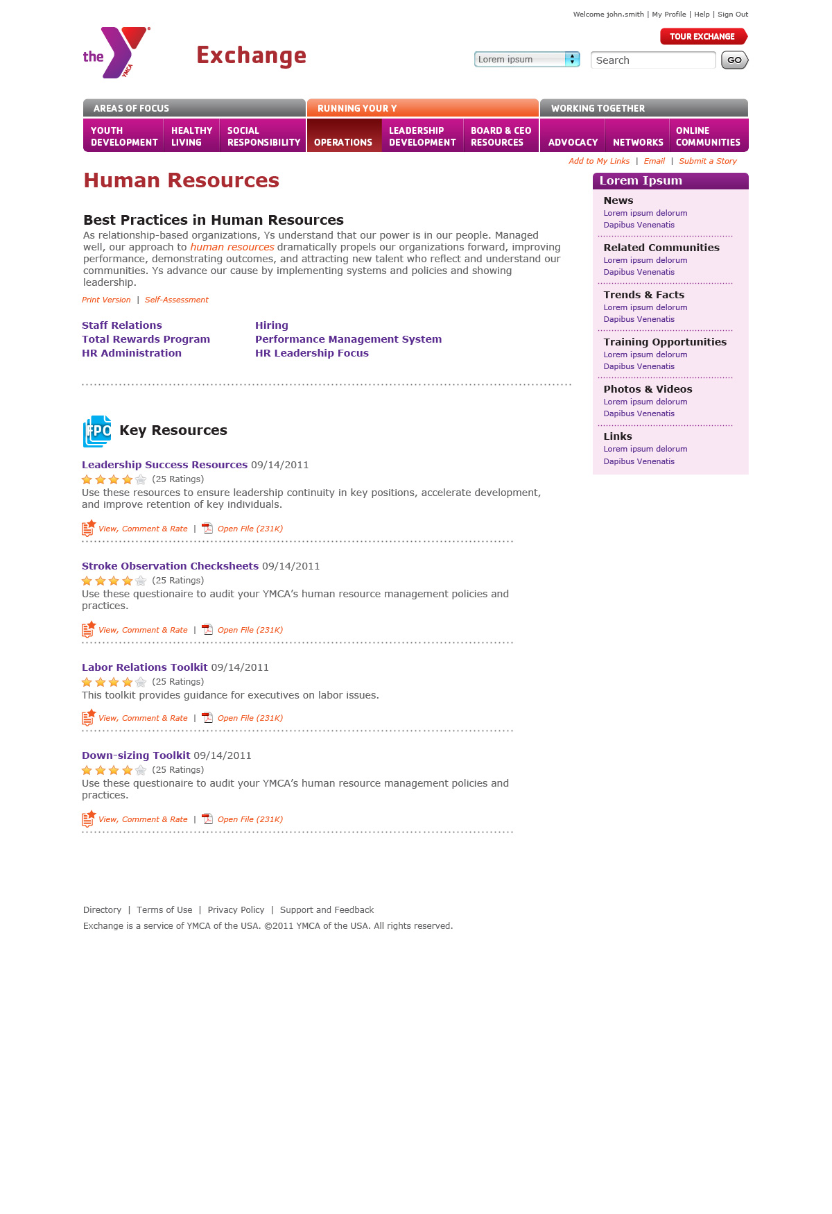 Intranet Article Page