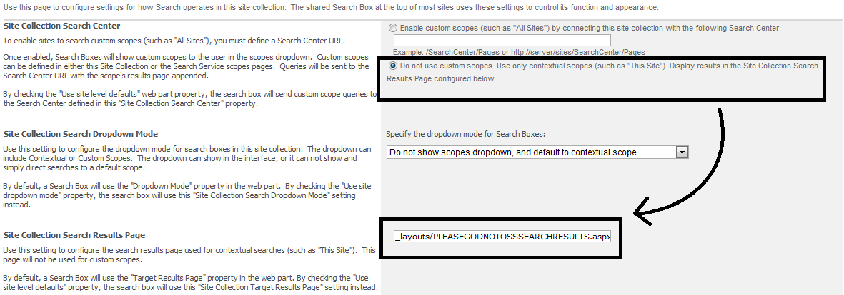 Using jQuery To Ignore The OSSSearchResults aspx Page With The